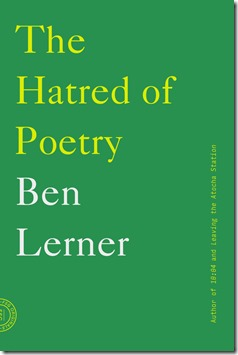 The Hatred of Poetry Ben Lerner